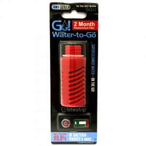 Water-to-Go Replacement filter for the GO! Water Bottle In Red